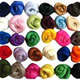 SOLEDI Set of 36 Colors Wool Fibre Wool Yarn Roving for Needle Felting Hand Spinning DIY NEW Craft Materials Free-shipping