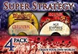 Super Strategy 4 Pack Age of Empires Gold Civilization II Risk II and Majesty Fantasy Kingdom Sim