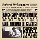Rachmaninoff : Rhapsody on a Theme of Paganini / Franck : Symphonic Variations for Piano and Orchestra / Ravel : Alborada del Gracioso