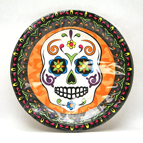 "Fun Express Day of The Dead Dinner Plates (8 Piece), 9"" - 1"