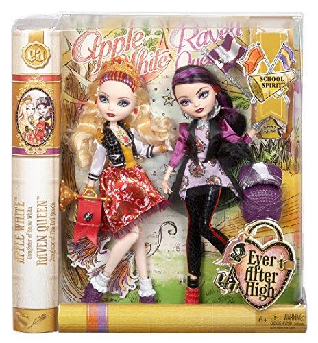 Ever After High School Spirit Apple White and Raven Queen Doll (2-Pack) JungleDealsBlog.com