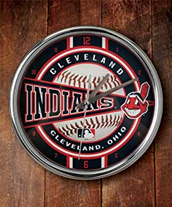 Cleveland Indians Chrome Clock by The Memory Company