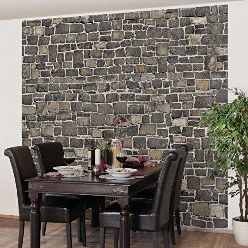 fototapete steintapete natursteinwand vliestapete quadrat tapete steinoptik naturstein. Black Bedroom Furniture Sets. Home Design Ideas
