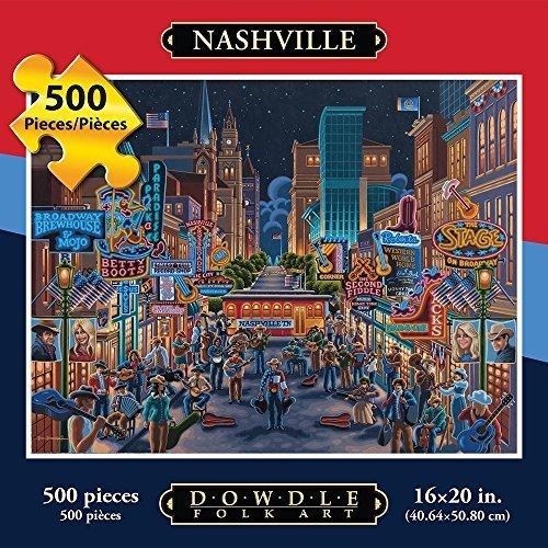 Jigsaw-Puzzle-Nashville-500-Pc-By-Dowdle-Folk-Art-by-Dowdle-Folk-Art