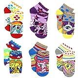 My Little Pony Girls 6 pack Socks (6-8 (Shoe: 10-4), Grey/White Ponies)