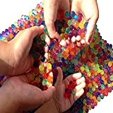 Water Beads, 8 OZ pack (Almost 20000 !!) Sooper Beads® Crystal Water Gel Bead [Rainbow Mix] Used For Kids Tactile Toys - SensoryToys, Orbeez refill, Vase Filler, Soil, Plant decoration, Bamboo Plants