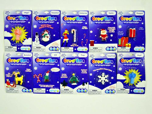 Grow'Ems - Water Growing Toy - Holiday Theme - 3 pack - 1