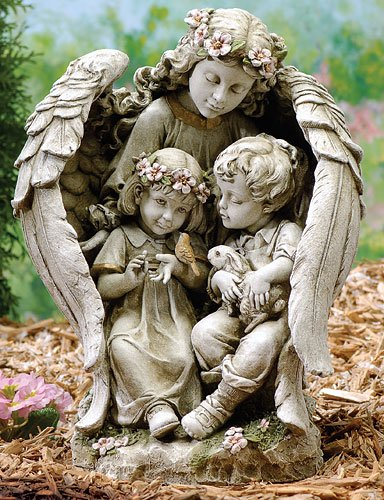 ... Under Her Magnificent Wings. Meticulously Hand Painted By Highly  Skilled Artisans With Rich Coloring And Detail. For Indoor/outdoor Use