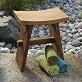 Bathroom Shower Seat | Handcrafted Teak Shower & Bath Seat ~ Shop Gaiam