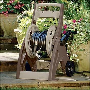 Suncast 175-Foot Capacity Hosemobile Garden Hose Reel Cart, Bronze/Taupe JNF175BD