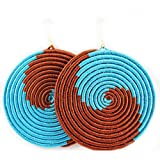 Yego Wave Earrings (Brown, Turquoise)