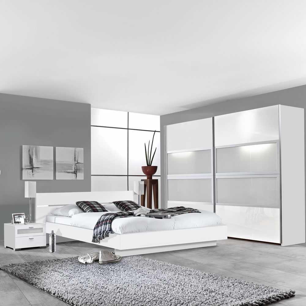 Schlafzimmer-Set Tramos in Weiß (4-teilig) Pharao24 bestellen