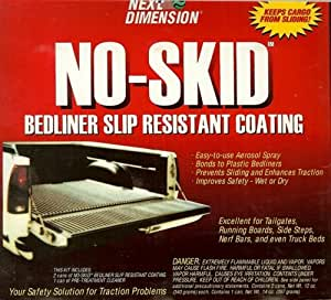 No skid bed liner slip resistant coating for No skid paint