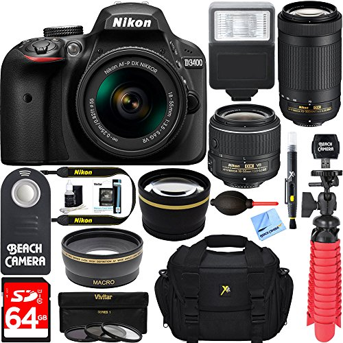 nikon-d3400-242-mp-dslr-camera-af-p-dx-18-55mm-70-300mm-nikkor-zoom-lens-kit-64gb-memory-bundle-phot