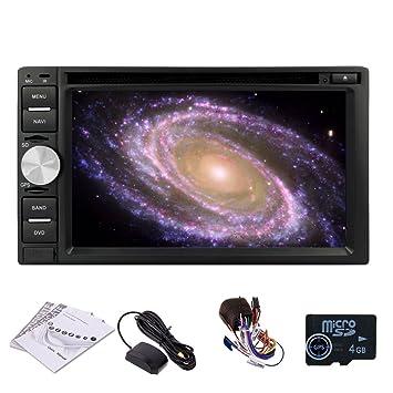 Universal voiture 2 Din GPS HD navegaciš®n del coche DVD 6.2 pulgadas d'šŠcran tš¢ctil de coches Receptor estšŠreo FM AM RDS Radio voiture, Bluetooth, insignes del coche, ršŠcepteur 2DIN Con
