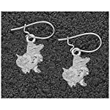 Logo Art Florida Gators Sterling Silver Team Logo 1/2 Dangle Earrings