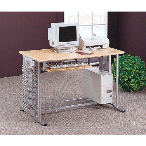 Buy Low Price Comfortable Computer Desk In Aluminium Finish (B003XRFR14)