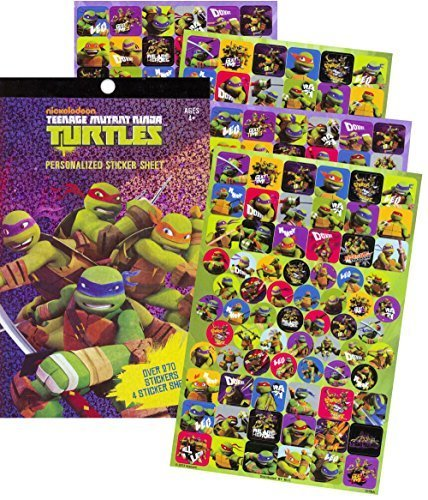 TMNT Teenage Mutant Ninja Turtles Sticker Pad- 276 Stickers!