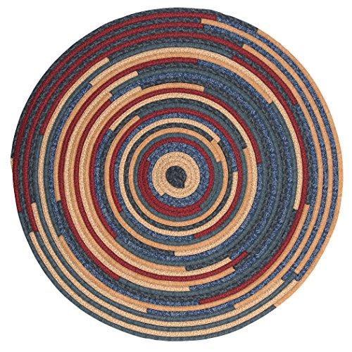 Quilter's Choice Round Braided Rug, 4-Feet, Denim