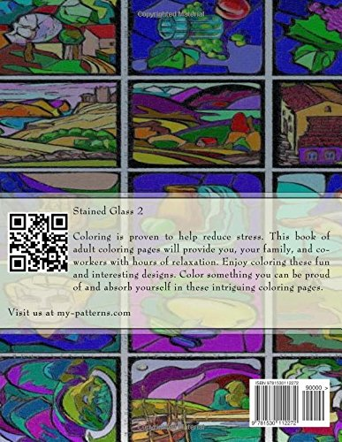 Stained Glass 2: Coloring Book