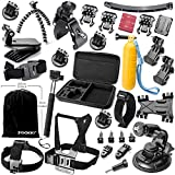 Zookki Gopro Accessories for GoPro Hero 4 3+ 3 2 Black Silver Gopro Accessory Kit for Gopro 4 3+ 3 2 SJ4000 SJ5000 SJ6000 Camera Camcorder Camera Accessory Kit in Parachuting Swimming Rowing Surfing Skiing Climbing Running Bike Riding Camping Diving Outing Any Other Outdoor Sports