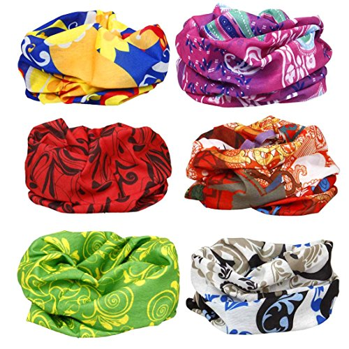 BMC 6pk Abstract Art Pattern Multifunctional Seamless Bandanna Scarf Wrap (African Head Wrap For Women compare prices)