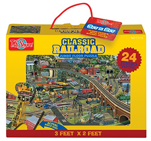 T.S. Shure Classic Railroad Jumbo Floor Puzzle