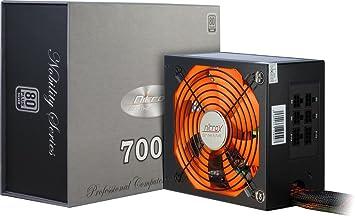 Inter-Tech Bloc d'alimentation Coba Nitrox Nobility CN-700 NS 700 W, ATX 2.3 Argenté