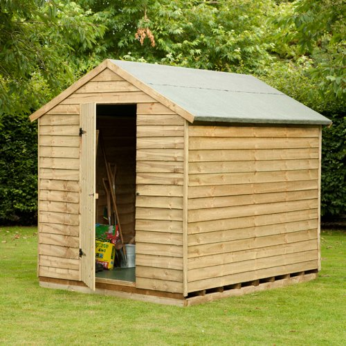 8 x 6 Pressure Treated Overlap Security Shed