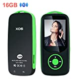 Mp3 Player with Bluetooth 16GB Sport Music Player Support up to 64GB Green by OIKA