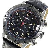 ゾンネ SONNE パイロット クロノ クオーツ メンズ 腕時計 HI003BK-BK ブラック