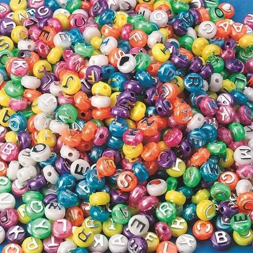 S&S Worldwide Pearl Alpha Beads, 1/16