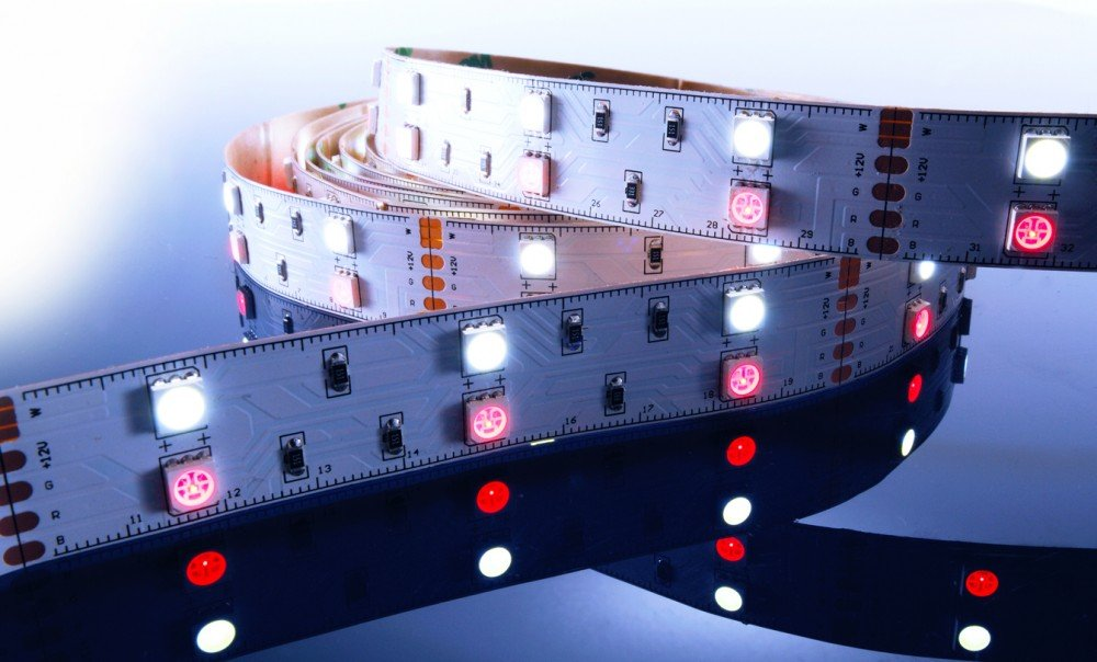 KapegoLED Flexibler LED Stripe, 5050, SMD, RGB und, 12 V DC, 43,20 W, kaltweiß 840060