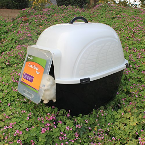 Large enclosed kitty litter box