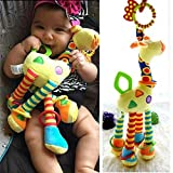 Infant Baby Development Soft Giraffe Animal Handbells Rattles Handle Toys LO