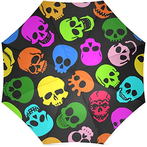 Art No.8 Sugar Skull Foldable Travel Umbrella (43 Inch)