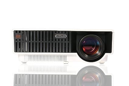 GIZGA® LED Projecteur Home Cinéma 1280*800 Système Android 4.4 WIFI Vidéoprojecteur 2800 Lumens - Blanc