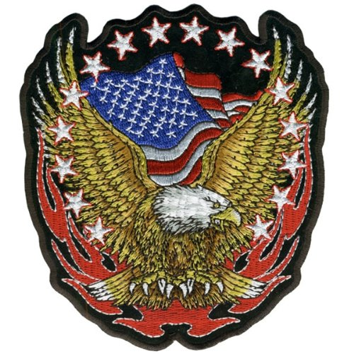 Hot Leathers Eagle Flag And Stars Patch (6