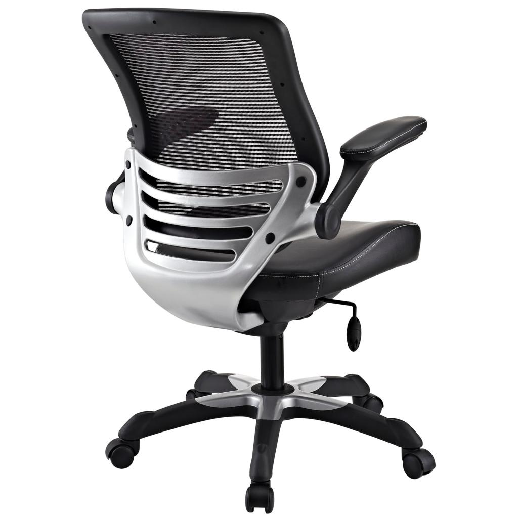 Office Chair With Mesh Back And Black Leatherette Seat Furniture