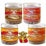 Chocholik Dry Fruits - Almonds Jamaican Jerk, Tandoori Masala, Tangy Tomato & Lemon Pepper With Small Ganesha...
