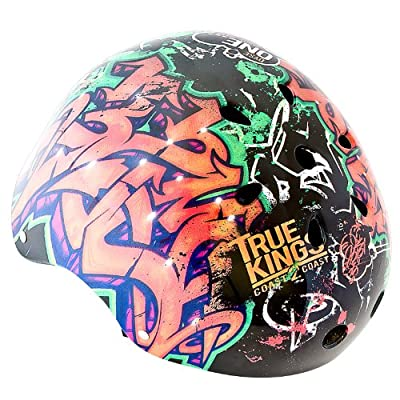 Kids Boys Children Bicycle Cycle Bike BMX Helmet 56 - 60 cm Motive: Graffiti Dyse One from Relaxdays
