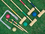 NEW 4 PLAYER COMPLETE WOODEN CROQUET...