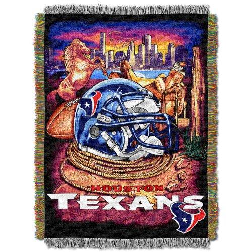 NFL Houston Texans Acrylic Tapestry Throw Blanket