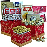 Sweet Sentiments Cookie, Candy and Snacks Gift Tower (Red)