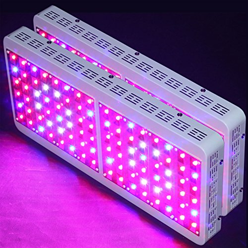 2Pcs Oceanrevive 500W + Full Spectrum Led Grow Light Lamp 5W Leds Growth Greenhouse Indoor Hydroponic Plant Veg Flowering Fixture Lighting Panel