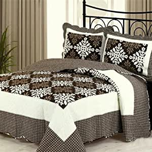 Blancho bedding simple coffee 3 pieces for Quilted kitchen set