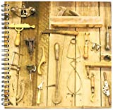 3dRose db_90277_1 Indiana, Indianapolis Carpentry tools on wood wall - US15 BJA0126 - Jaynes Gallery - Drawing Book, 8 by 8-Inch