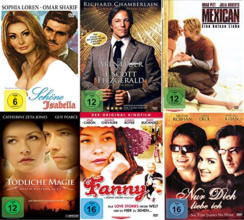 Die Best of Romantik Box Collection (6Filme auf 6 DVDS mit Mexican - Tödliche Magie - Nur dich liebe ich - Fanny)