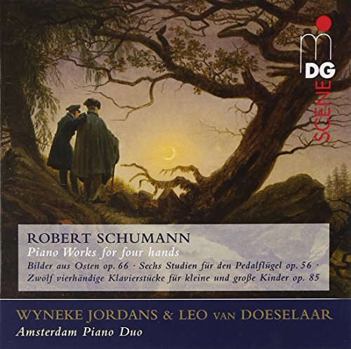 SACD : SCHUMANN / BRAHMS / AMSTERDAM PIANO DUO - Piano Works Arranged For 4 Hands