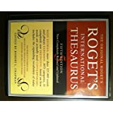Roget's International Thesaurus. Fifth edition.